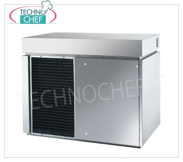 Flake ice makers / machines without deposit Flake ice maker, without deposit, stainless steel exterior, air cooling, V 230/1, Kw 3.0, yield 620 Kg / 24 hours, dimensions 900x588x705h mm, weight 151 kg.