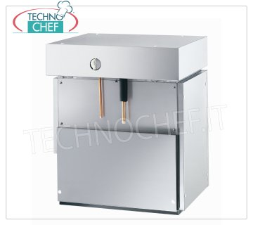 Flake ice makers / machines without deposit Flake ice maker, without deposit, stainless steel exterior, water cooling, yield 900 Kg / 24 hours, V 400/3, Kw 5,0, weight Kg 138, dimensions mm 604x700x880h.