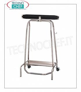 Dustbins dustproof Trolley trolley on stainless steel wheels, foot cover with hermetic closure, for 110 liter sacks, dim.mm.600x450x960h