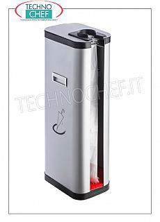 Umbrella Umbrella cover dispenser in gray painted metal, with side handles, capacity 500 drip-proof bags, dim.mm.205x310x740h