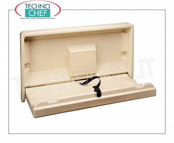 Wall changing table Beige wall-mounted changing mat with safety belt, maximum load up to 50 Kg, dim.mm.895x489x480h