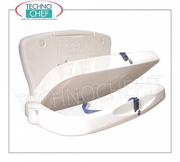 Wall-mounted changing table Foldable white changing table with safety belt, maximum load up to 90 Kg, dim.mm.872x513x510h