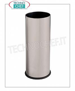 Umbrella Umbrella stand in bright stainless steel with inner plastic tray, capacity 27 liters, diam.mm.240x600h