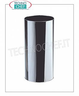 Umbrella Umbrella stand in bright stainless steel with inner plastic tray, 22 liters capacity, diam.mm.240x500h