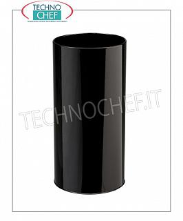 Umbrella Umbrella stand in black painted metal with inner plastic tray, 22 liters capacity, diam.mm.240x500h - Available in packs of 6 pieces