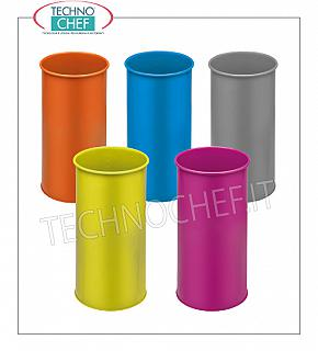 Umbrella Umbrella stand in painted metal with inner plastic tray, available in various colors, capacity 22 liters, diam.mm.240x500h