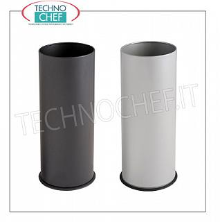 Umbrella Umbrella stand in painted metal with internal plastic tray, available in black and gray, capacity 27 liters, diam.mm.240x600h