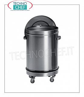Stainless steel dustbin Stainless steel dustbin with lid, capacity 50 liters, diameter mm.390x600 h