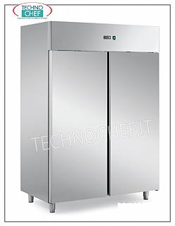 PROFESSIONAL TOP Freezer cabinets, HIGH THICKNESS-ENERGY SAVING, Negative Temperature 2-door Refrigerator / Freezer Cabinet, 1400 liters, ENERGY-SAVING-HIGH THICKNESS, low temperature -10 ° / -20 ° C, ventilated, Gastro-Norm 2/1, base line without light and key, V 230/1, kw 0.81, dim. mm 1480x820x2060h
