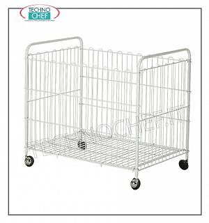 Laundry trolleys Plasticized folding laundry basket, complete range available in various sizes