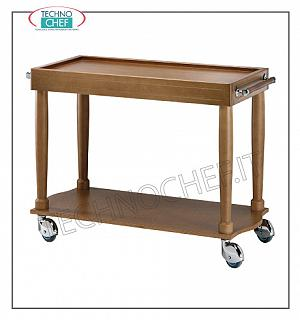 Wooden service carts Service trolley in solid wood, n. 2 shelves, dimensions 1000x500x800h