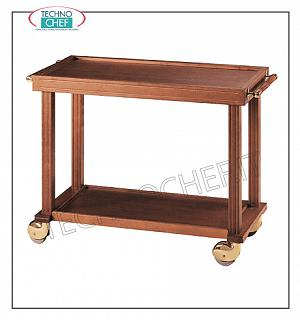 Wooden service carts Service trolley in solid wood, n. 2 shelves, dimensions 1100x500x800h