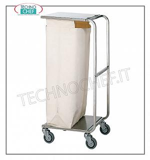 Laundry trolleys Service trolley on the floors with a laundry bag and lid