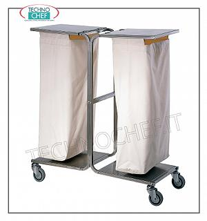 Laundry trolleys Service trolley on the floors with 2 laundry bags and lids