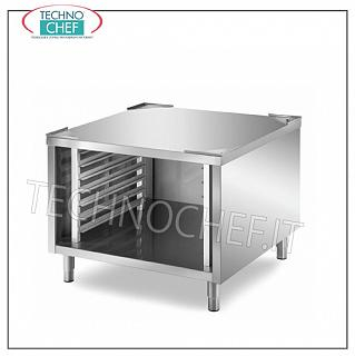 Bases for ovens Base support in stainless steel for oven on cabinet, complete with guides for 7 insertion Gastro-Norm 2/1 h 60 mm., Dim. mm. 800x800x720 h.