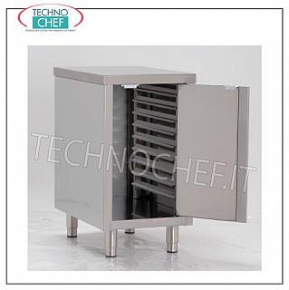 Bases for ovens Base support in stainless steel for oven on aramed cabinet, with hinged door and guides for 7 insertion Gastro-Norm 2/1 h 60 mm., Dim. mm. 800x800x720 h.