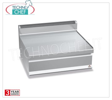 TECHNOCHEF - NEUTRAL TOP, 1 module 800 mm, Mod. N7-8B TOP NEUTRAL TOP, BERTOS, Line MACROS 700, Series WORKING, 1 module 800 mm, Weight 43 Kg, dim.mm.800x700x290h