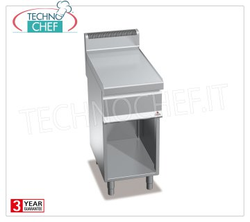 TECHNOCHEF - NEUTRAL SURFACE on a COMPARTMENT ROOM, 1 module of 400 mm, Mod.N7T4M NEUTRAL FLOOR on DAY COMPARTMENT, BERTOS, MACROS 700 Line, WORKING Series, 1 400 mm module, Weight 24 Kg, dim.mm.400x700x900h