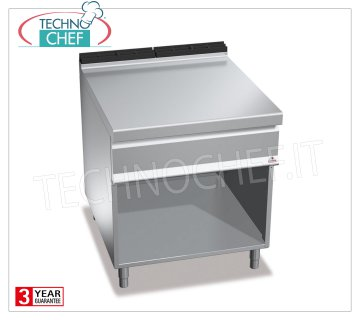 TECHNOCHEF - NEUTRAL FLOOR on COMPARTMENT ROOM with DRAWER, DOUBLE 800 mm module, Mod. N9T8MC NEUTRAL FLOOR on DAY COMPARTMENT, BERTO'S, MAXIMA 900 Line, WORKING Series, DOUBLE 800 mm module, version with pull-out DRAWER, Weight 55 Kg, dim.mm.800x900x900h