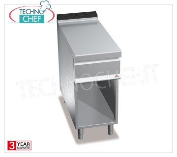 TECHNOCHEF - NEUTRAL SURFACE on a COMPARTMENT ROOM, 1 module of 400 mm, Mod.N9T4M NEUTRAL FLOOR on DAY COMPARTMENT, BERTOS, MAXIMA 900 Line, WORKING Series, 1 400 mm module, Weight 35 Kg, dim.mm.400x900x900h