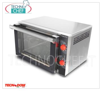 Tecnodom - Electric CONVECTION OVEN 3 TRAYS GN 2/3, Professional, mod.FEM03NE02V ELECTRIC CONVENTION OVEN Ventilated for GASTRONOMY and SNACK, Brand TECNODOM, capacity 3 TRAYS GN 2/3 (mm 354x325), MECHANICAL CONTROLS, V.230 / 1, Kw.2,5, Weight 28 Kg, dim.mm.600x520x390h
