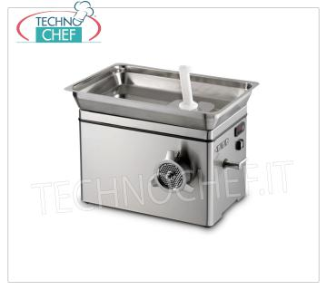 Technochef - REFRIGERATED MEAT MINCER, MOUTH 22, YIELD 350 kg / h, mod. TC22NEVADAICE REFRIGERATED MEAT MINCER, with MOUTH 22, YIELD 350 Kg / h, SIRMAN brand, Professional, Industrial, V.230 / 1, Kw.1,1, Weight 48 Kg, dim.mm.512x390x481h