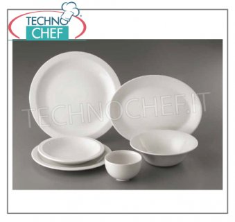 CHURCHiLL - Porcelain for Restaurant FLAT PLATE, Nova Bianco Collection, cm.28, Brand CHURCHiLL - Available for purchase in packs of 12