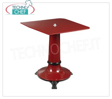 TECHNOCHEF - Cast iron support pedestal, Mod.570 / 330 Cast iron support pedestal for flywheel slicers, with round base diam.mm 600, Height 790 mm, plate mm.480x600h, Weight 70 Kg.