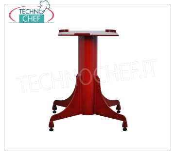 TECHNOCHEF - Iron support pedestal, Mod.580 / 330 Iron support pedestal for flywheel slicers, with base dim.mm 640, Height 790 mm, plate from mm.480x600h, Weight 46 Kg.
