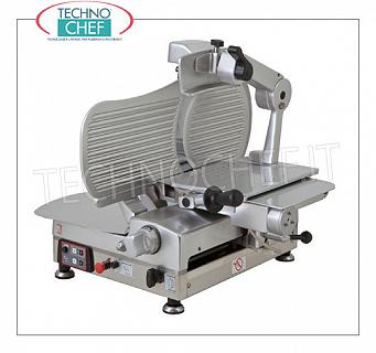 TECHNOCHEF - Vertical Automatic Slicer, blade Ø 350 mm, Professional, Mod.LMATIC35S Automatic vertical slicer with gear transmission, blade diameter 350 mm, V 230/1, Kw 0.45, Weight 60 Kg, dim.mm.630x880x790h