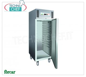 Forcar - Pastry Fridge Cabinet 1 Door, lt. 737, Ventilated, Temp.-2 ° / + 8 ° C, Class C, model G-PA800T Pastry Refrigerator Cabinet, 1 Door, Professional, lt. 737, Temp.-2 ° / + 8 ° C, Ventilated, ECOLOGICAL in Class C, Gas R290, suitable for 60x80 or 60x40 cm trays, V.230 / 1, Kw. 0,33, Weight 143 Kg, dim.mm.740x990x2010h