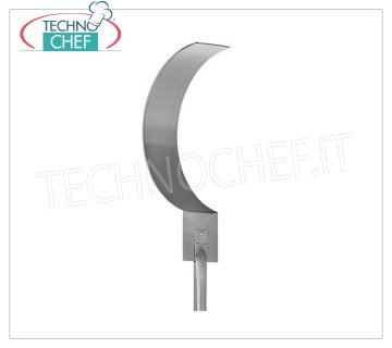 TECHNOCHEF - Shovel for Brace, Mod.2762 Curved shovel moves embers in 18/10 stainless steel, handle length mt.1,50.