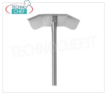 TECHNOCHEF - Pala Tira Cenere, Mod.2763 Ash puller in 18/10 stainless steel, handle length mt.1,50.