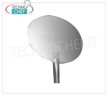 TECHNOCHEF - Round Stainless Steel Pizza Shovel with 1.5mm Stainless Steel Handle TONDA pizza shovel in 18/10 stainless steel, diameter 15 cm, stainless steel handle length 1.5 m.