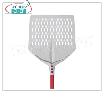 TECHNOCHEF - Aluminum Square Pizza Pad with Aluminum Tulip cm 45x45 QUADRA FORA pizza block in anodised aluminum, dim.cm.45x45, handle length 1.20 m.