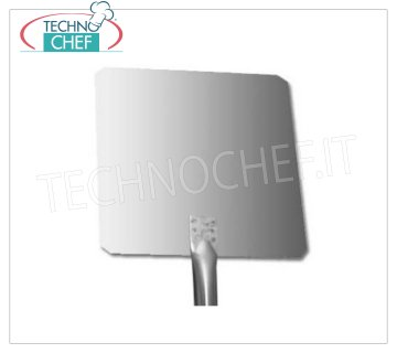 TECHNOCHEF - Stainless Steel Square Pizza Shovel with 1.5mm stainless steel Handle QUADRA pizza shovel in 18/10 stainless steel, dim.cm 20x20, stainless steel handle length 1.5m.