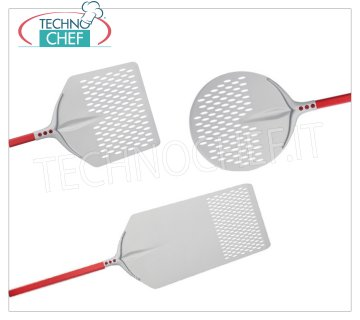 Perforated aluminum pizza peels