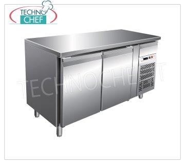 Forcar - 2 Doors Refrigerated Table, Temp. -2 ° / + 8 ° C, lt. 390, Ventilated, Class B, model G-PA2100TN 2 Doors Refrigerated Table with neutral drawer, Professional, Pastry Trays 600x400 mm, capacity 390 liters, temperature -2 ° / + 8 ° C, ventilated refrigeration, ECOLOGICAL in Class B, Gas R290, V.230 / 1, Kw.0, 26, Weight 140 Kg, dim.mm.1510x800x860h