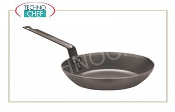 Paderno - Heavy iron pans with handle Heavy Lyonnaise iron pan with 1 handle, diam. 22 cm, 4 cm high