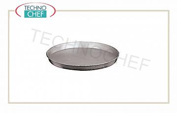 Round Pie pizza, pastry Round oven tray in aluminized steel, 20x2.5h diameter, price each - Available in packs of 10 pieces