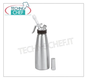 Siphon for whipped cream, Inox Professional trap of Lt 0.50, CREAM PROFI WHIP line only for COLD preparations