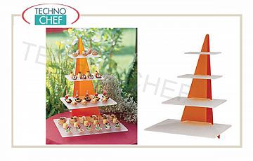 Display and pyramids for buffet Buffet Display 4 Pyramid Shelves