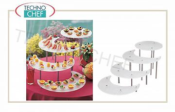 Display and pyramids for buffet Display For Buffet 4 Shelves Free Standing A
