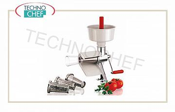 Food mill Hand-made professional manual tomato processor, diameter 21 cm, supplied with 1 mm holes