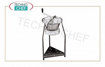 Food mill Manual vegetable mill diameter 39 cm, tin-plated with support, supplied with 3 mm holes