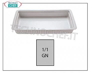 Porcelain Gastronorm trays Gn 1/1 Tin Cm 2