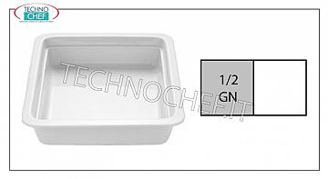 Porcelain Gastronorm trays Gn 1/2 Tin Cm 2