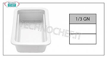 Porcelain Gastronorm trays Gn 1/3 Tin Cm 2