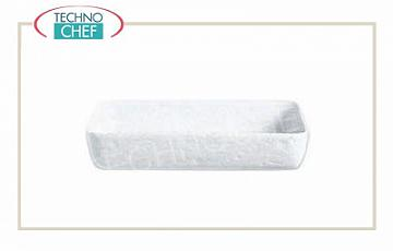 Porcelain bakeware Porcelain oven shaped rectangular oven dish, dimensions 22x16 cm, 6 cm high