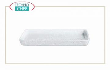 Porcelain bakeware Corded rectangular ovenproof oven dish, low in porcelain, 40x30 cm, 4 cm high
